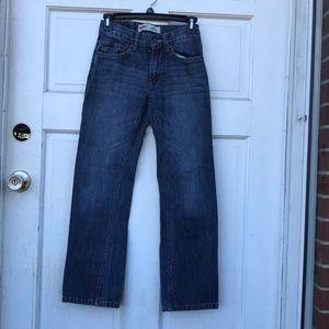 Levi's 505 Straight Leg Denim Jeans 12 Slim 24x26